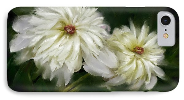 IPhone Case featuring the painting Withering Peony by Bonnie Willis