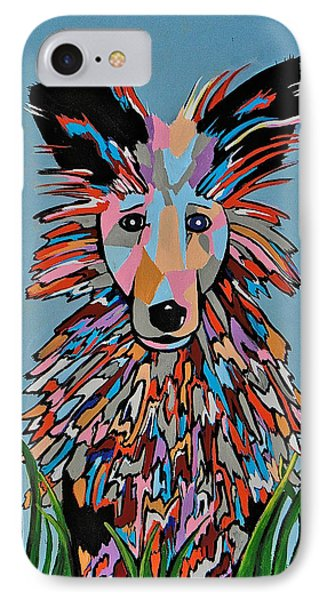 IPhone Case featuring the painting Wiz by Kathleen Sartoris