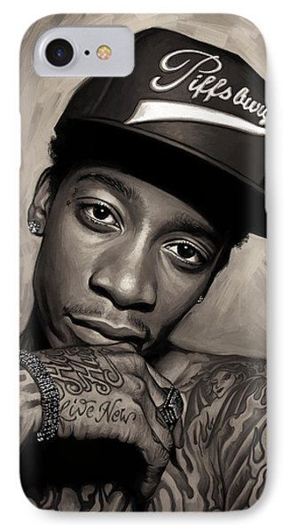 IPhone Case featuring the painting Wiz Khalifa Artwork  by Sheraz A