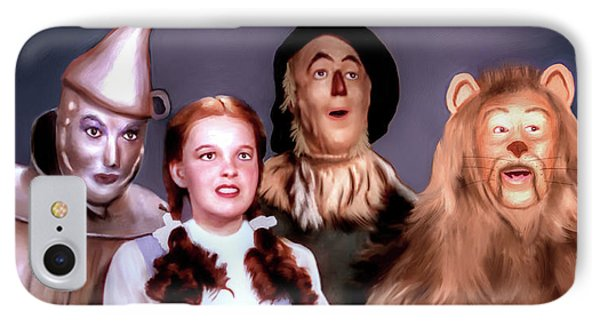 IPhone Case featuring the painting Wizard Of Oz by Pennie  McCracken