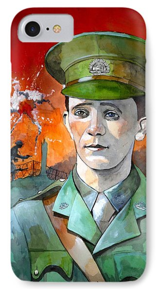 IPhone Case featuring the painting W.j. Symons Vc by Ray Agius