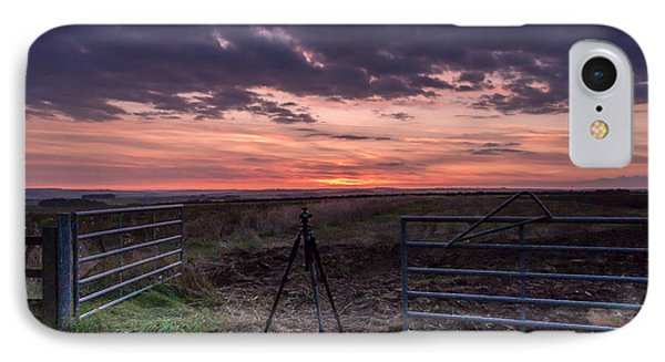 Wolds Sunset 2 IPhone Case by David  Hollingworth