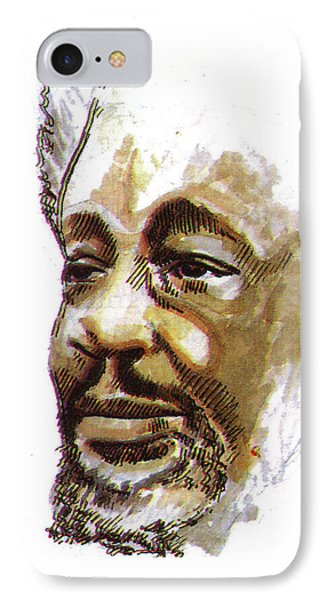 Wole Soyinka IPhone Case by Emmanuel Baliyanga
