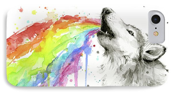 Wolf And Rainbow  IPhone Case