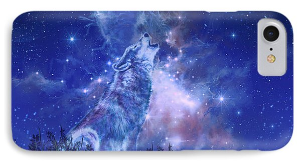 Wolf And Sky Blue 2 IPhone Case