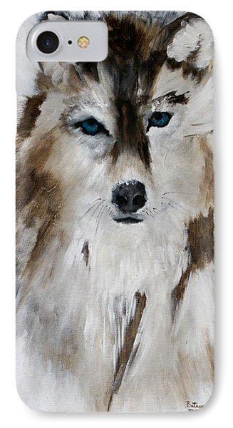 Wolf - Blue Star IPhone Case by Barbie Batson