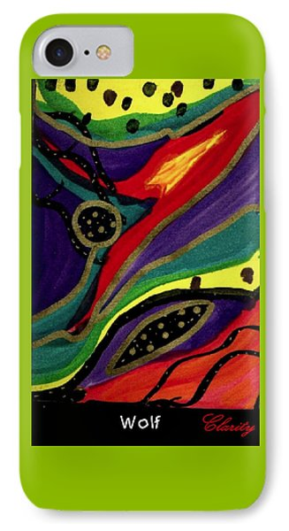 IPhone Case featuring the painting Wolf by Clarity Artists