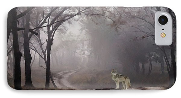 IPhone Case featuring the photograph Wolf Deep In The Forest  by David Dehner