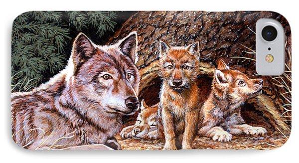 Wolf Den Phone Case by Richard De Wolfe