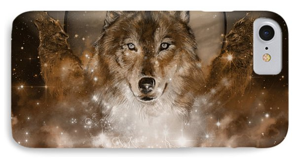 Wolf In Sepia IPhone Case