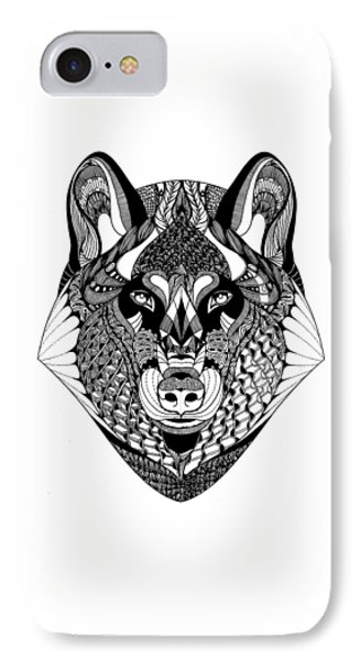 Wolf IPhone Case by Jan Steinle
