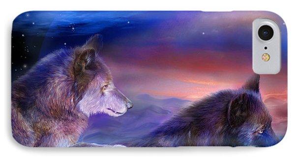 Wolf Mates Phone Case by Carol Cavalaris