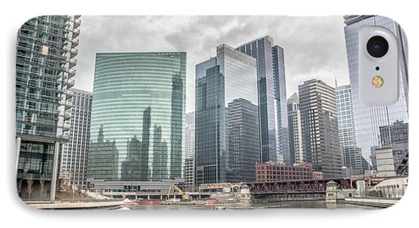 Wolf Point Where The Chicago River Splits IPhone Case by Peter Ciro