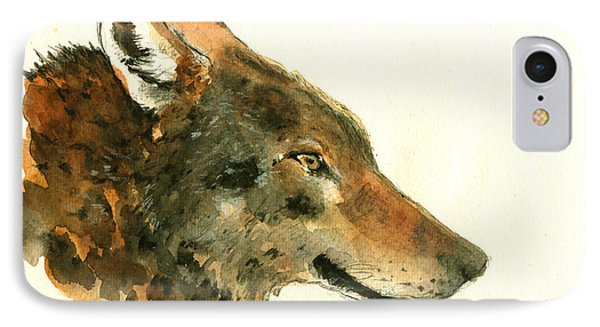 Wolf Portrait IPhone Case by Juan  Bosco