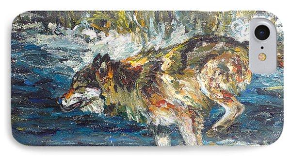 Wolf Running IPhone Case by Koro Arandia