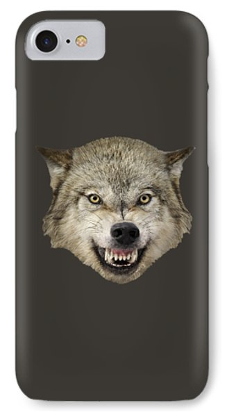 Wolf Snarling IPhone Case by Wildlife Fine Art