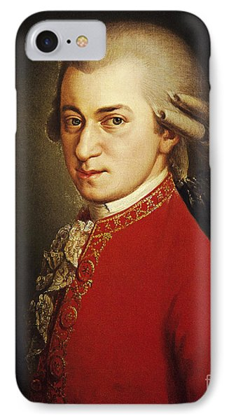 Wolfgang Amadeus Mozart, Austrian Phone Case by Photo Researchers