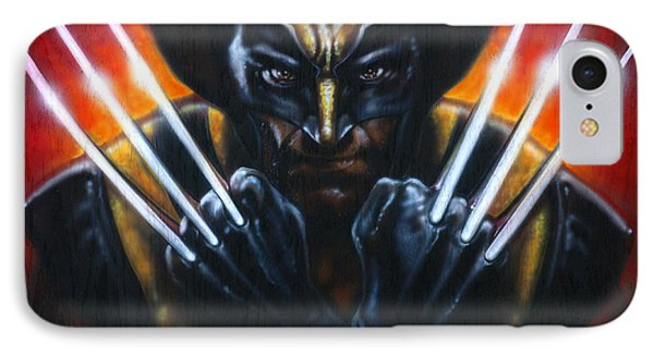 Wolverine IPhone Case by Tim  Scoggins