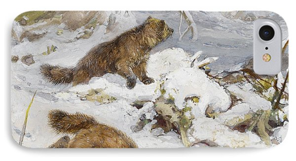 Wolverines In The Snow IPhone Case