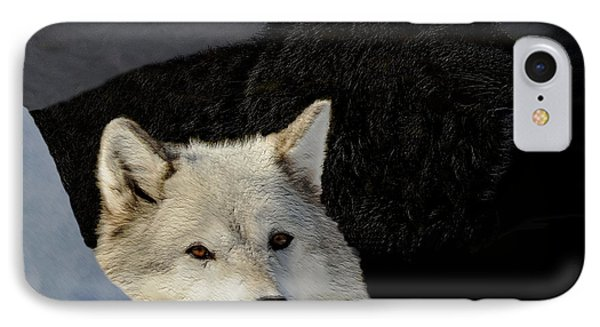 IPhone Case featuring the digital art Wolves, Real And Surreal by Kae Cheatham