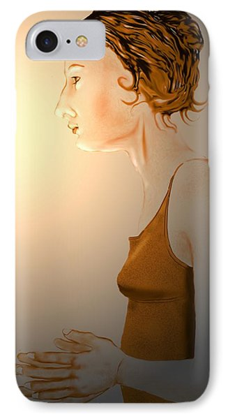 Woman 15 IPhone Case by Kerry Beverly