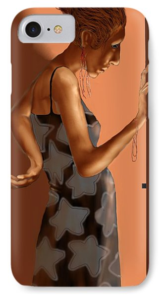 Woman 37 IPhone Case by Kerry Beverly