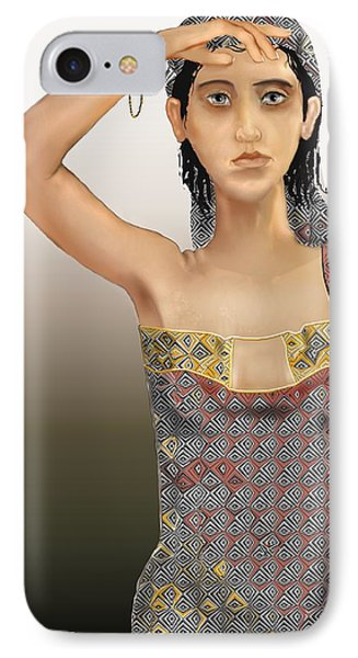 Woman 5 IPhone Case by Kerry Beverly