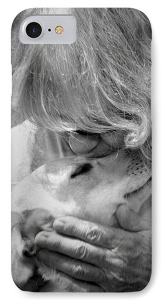 Woman And Dog IPhone Case by Kelly Hazel