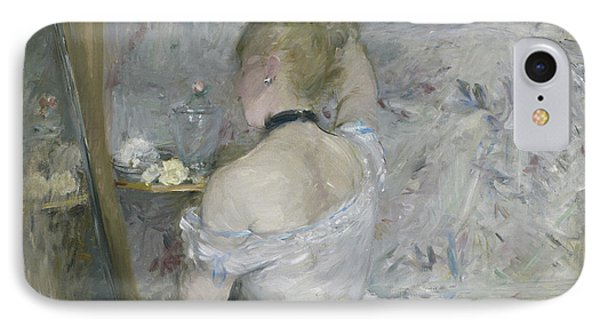Woman At Her Toilette IPhone Case by Berthe Morisot