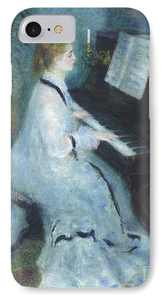 Woman At The Piano IPhone Case