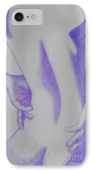 Woman Back Purple IPhone Case