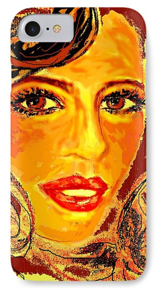 IPhone Case featuring the digital art Woman by Desline Vitto