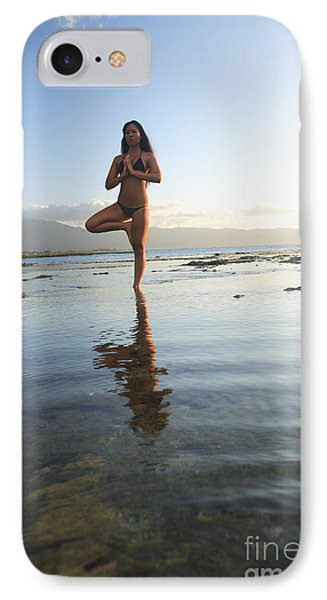 Woman Doing Yoga Phone Case by Brandon Tabiolo - Printscapes