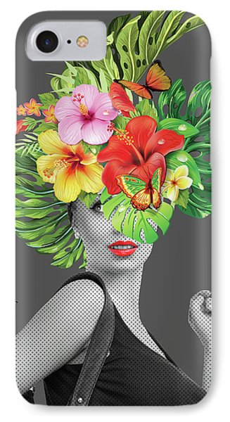 Woman Floral  IPhone Case