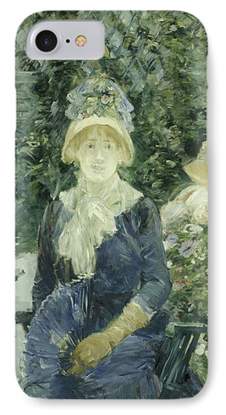 Woman In A Garden IPhone Case by Berthe Morisot