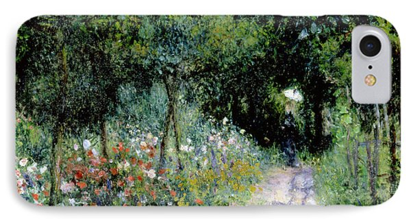 Woman In A Garden IPhone Case by Pierre Auguste Renoir