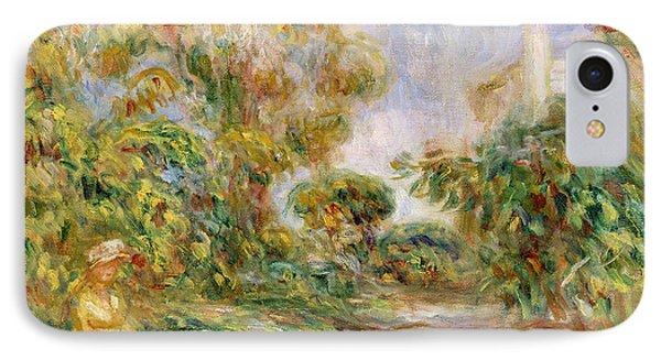 Woman In A Landscape IPhone Case by Renoir