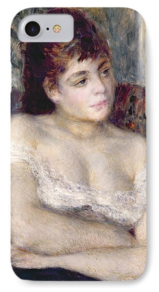 Woman In An Armchair IPhone Case by Pierre Auguste Renoir