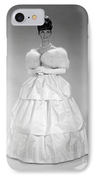 Woman In Ball Gown, C. 1960s IPhone Case by H. Armstrong Roberts/ClassicStock