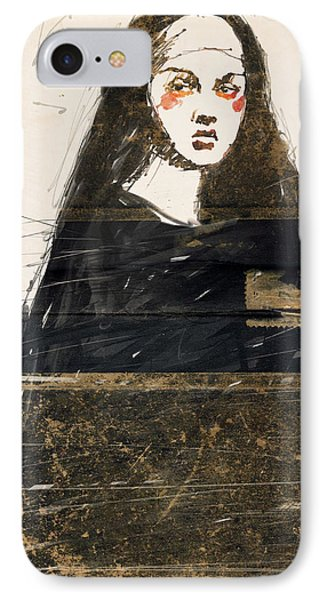 Woman In Black IPhone Case by H James Hoff