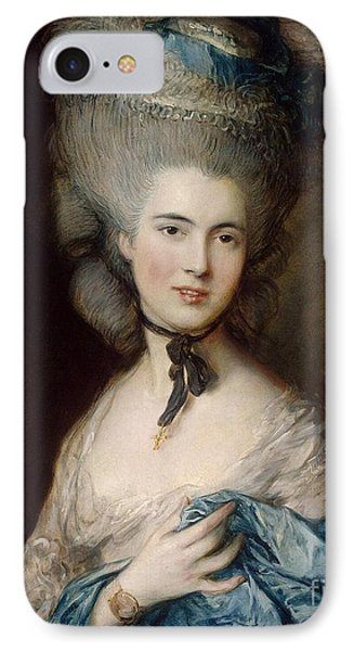 Woman In Blue The Duchess Of Beaufort IPhone Case