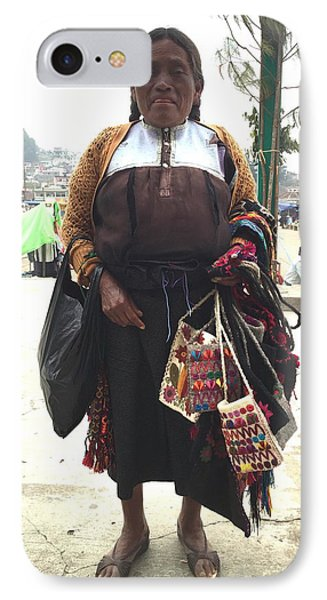 Woman In Chiapas. IPhone Case by Shlomo Zangilevitch