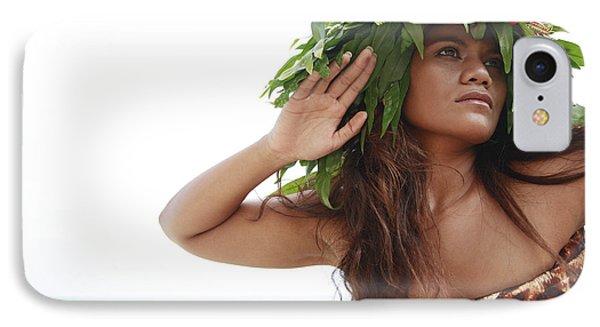 Woman In Fern Haku IPhone Case by Brandon Tabiolo - Printscapes