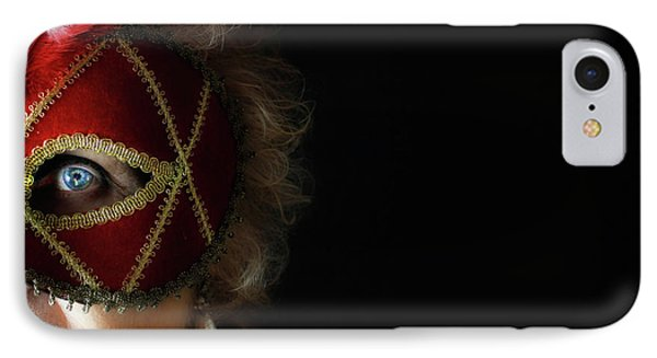 Woman In Mask  Phone Case by Steven Digman