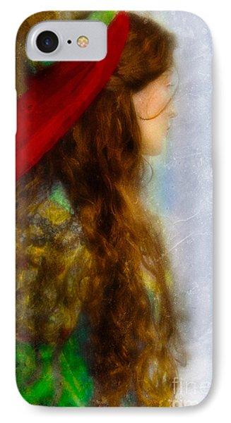 Woman In Medieval Gown Phone Case by Jill Battaglia