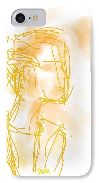 Woman In Orange IPhone Case by Robert Yaeger