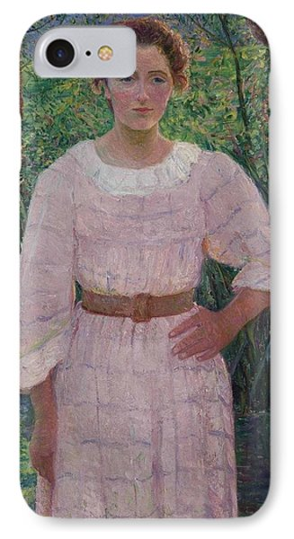 Woman In Pink Dress IPhone Case