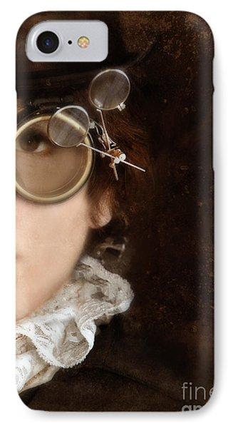 Woman In Steampunk Clothing  Phone Case by Jill Battaglia
