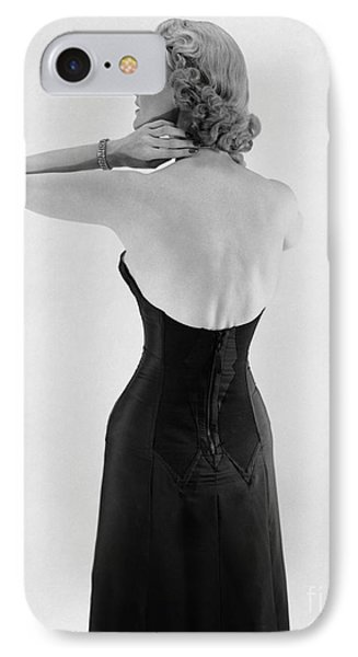Woman In Strapless Dress, C.1950s IPhone Case by Corry/ClassicStock
