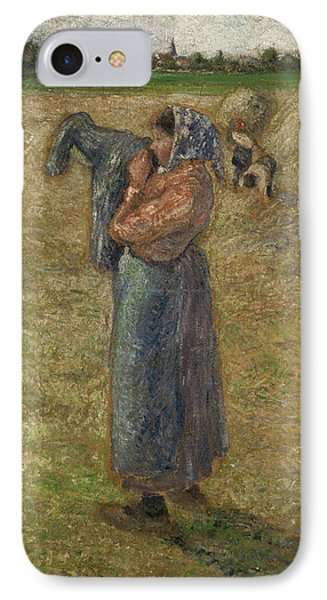 Woman In The Fields, Campesina IPhone Case by Camille Pissarro